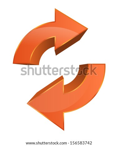 This image is a vector file representing a Data Sync Backup Icon. / Data Sync Backup Icon / Data Sync Backup Icon - stock vector