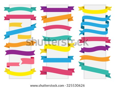 This image is a vector file representing a Label Tag Banner Ribbon Vector collection set./Label Tag Banner Ribbon Vector/Label Tag Banner Ribbon Vector - stock vector