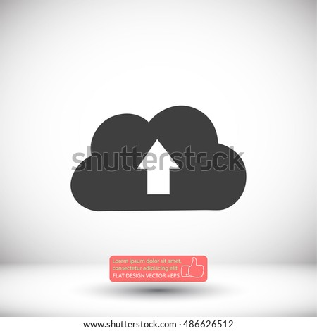 This image represents a cloud upload  icon. Vector Eps 10