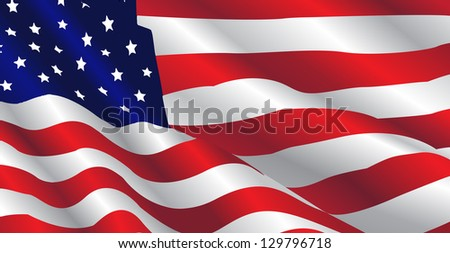 This image represents an United States Flag in a july day. / United States Flag