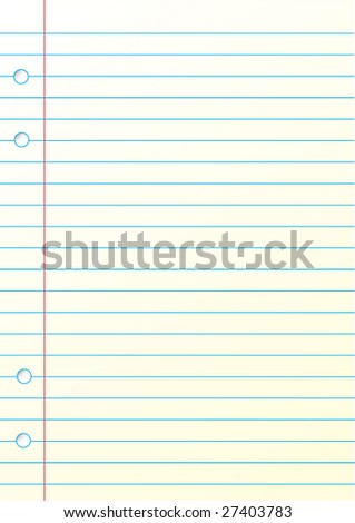 This is a blank notepad for your idea. It can be easy editable - stock vector