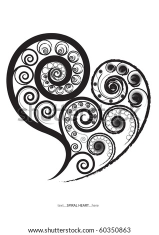 This is a Spiral Heart in vector file - stock vector