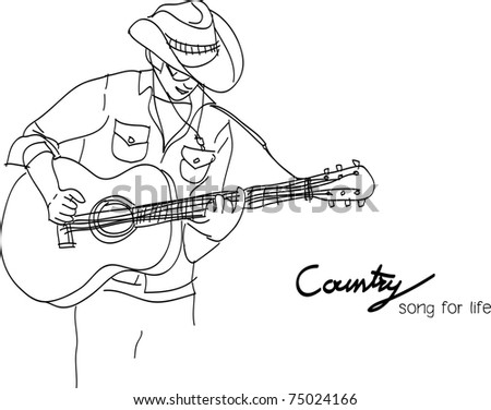 This is a vector file of country song - stock vector
