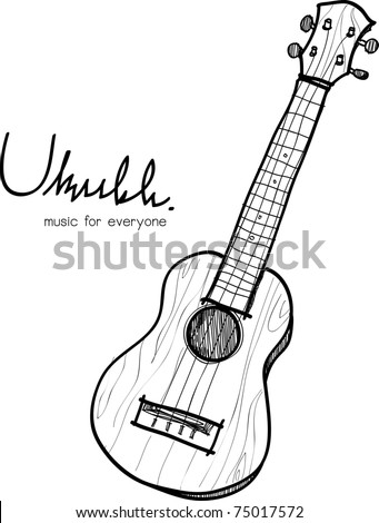 This is a vector file of Ukulele sketch - stock vector