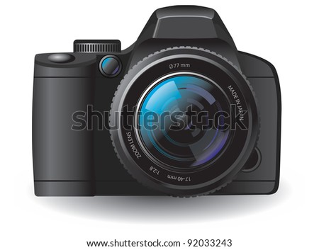 This is a vector illustration of camera - stock vector