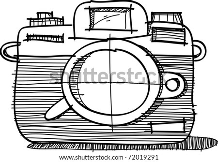This is a vector of camera - stock vector