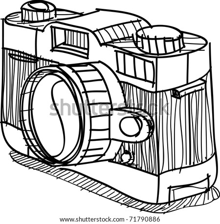 This is a vector of camera ,sketch on my imagination - stock vector