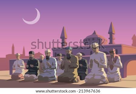 This is an illustraion of Ramadan holiday - stock vector