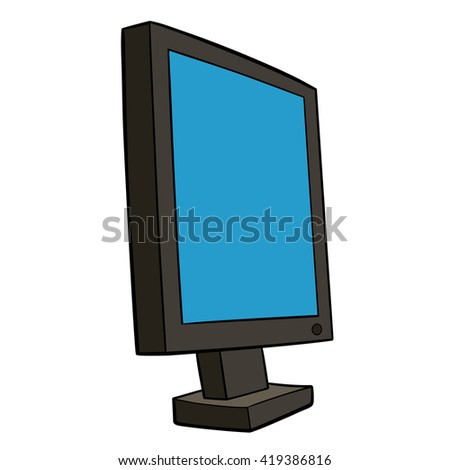 This is an illustration of pc monitor