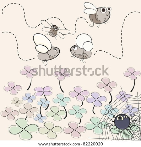 this is illustration of the insects. Fy - stock vector