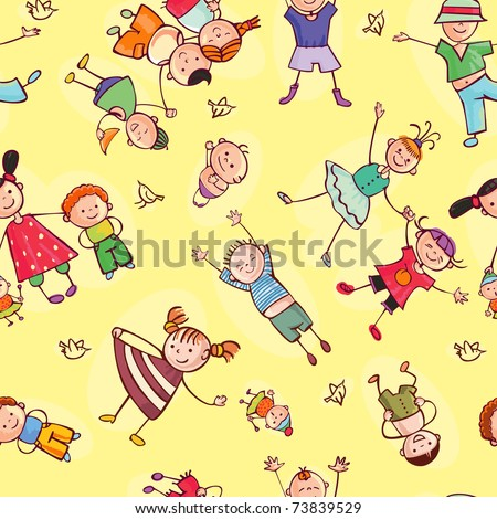 this is seamless ornamental pattern for kids, magazines , web sites, textile industry - stock vector
