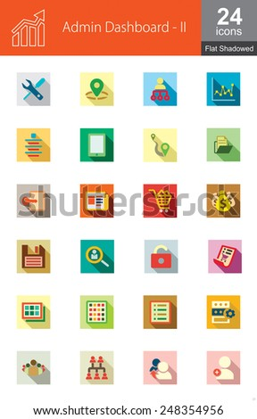This set contains icons for web administration. These are recommended for use in admin panel designs in web applications and websites. - stock vector