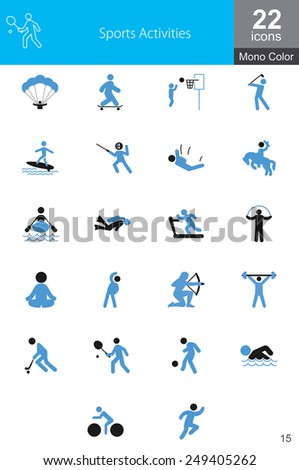 This set depicts avatars doing various sports activities and athletics. This is recommended for use on websites, web applications and mobile applications. - stock vector