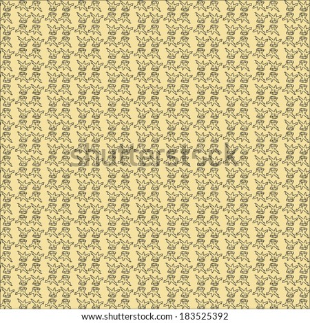 This small tree pattern background color. Ornate vintage seamless pattern - stock vector