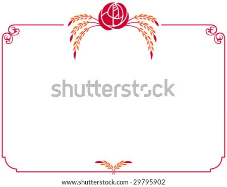 This vector picture represents a greeting card, good for mother day