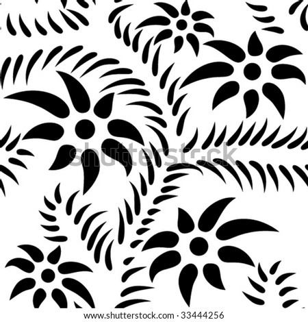 thorn flowers - stock vector