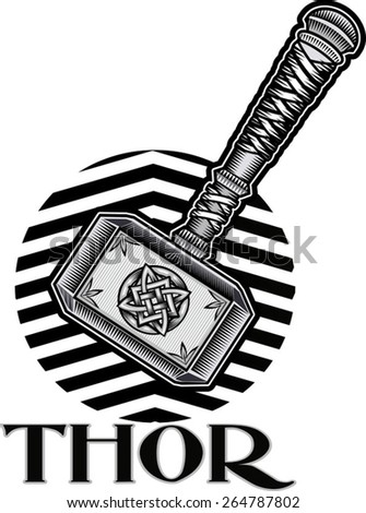 Thors Hammer  - stock vector