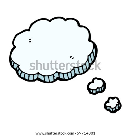thought bubble cartoon - stock vector