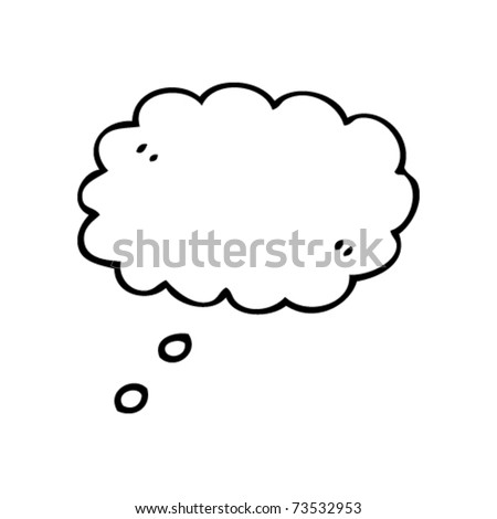 thought bubble cartoon - stock vector