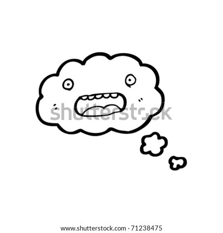 thought bubble cartoon character - stock vector