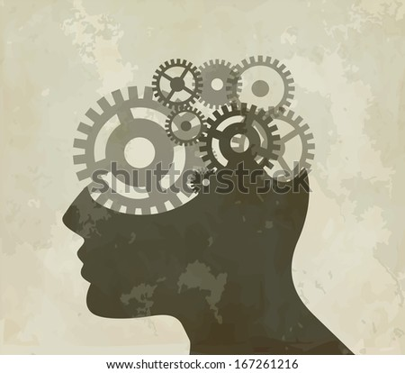 Thought process - stock vector