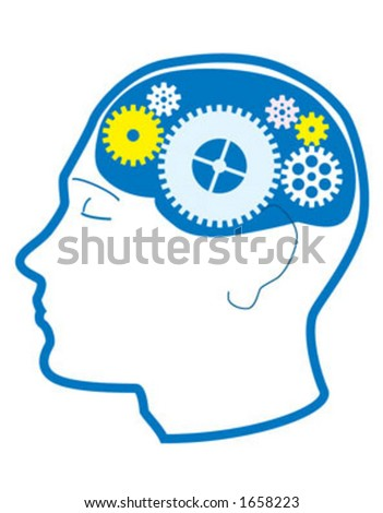 Thought process - vector - stock vector