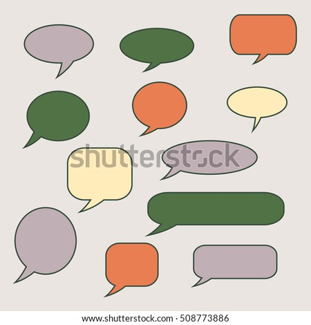 Thought , speech bubble. Dream cloud. Talk balloon. Quote box. Text, 