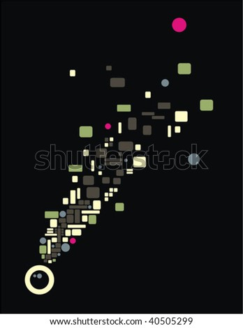 Thoughts in my head. Vector illustration. - stock vector