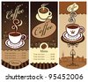 three banners for local cafes - stock vector