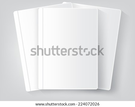 three Blank book - stock vector