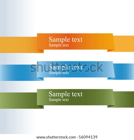 three colored background - stock vector