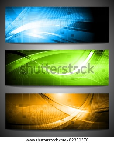 Three colorful banners. Vector illustration eps 10 - stock vector