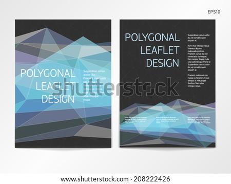 Poster flyer pamphlet brochure cover design stock vector for 3 column brochure template