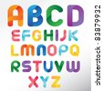 Three Dimension Colorful Alphabet Set - stock vector