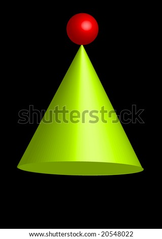 three dimensional christmas tree - stock vector