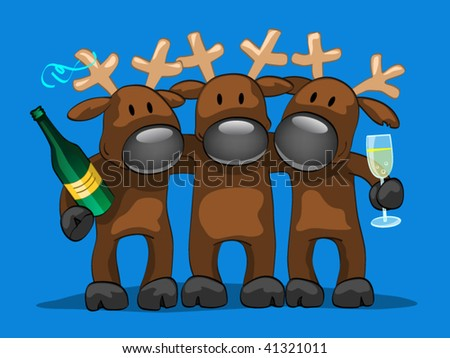 three friends - stock vector