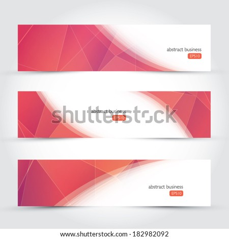 Three geometric design vector business banners - stock vector