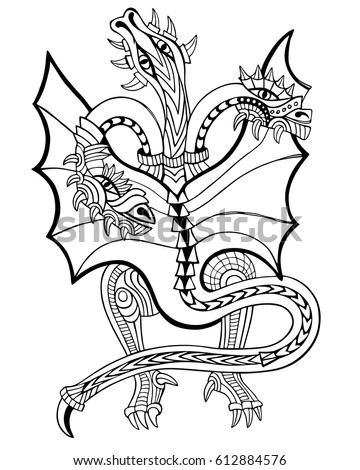 Coloring Book Hand Drawn Vector Illustration With Geometric And Floral