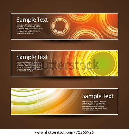 Three Header Designs - stock vector