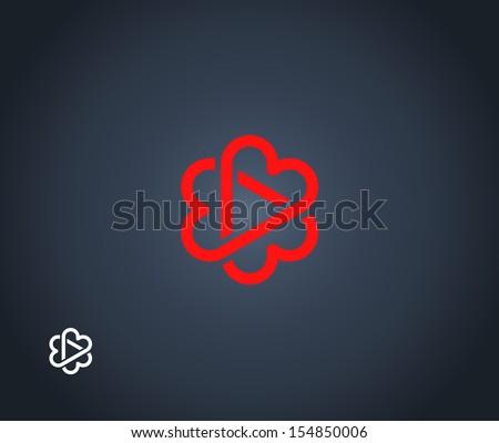 Three hearts symbol - stock vector