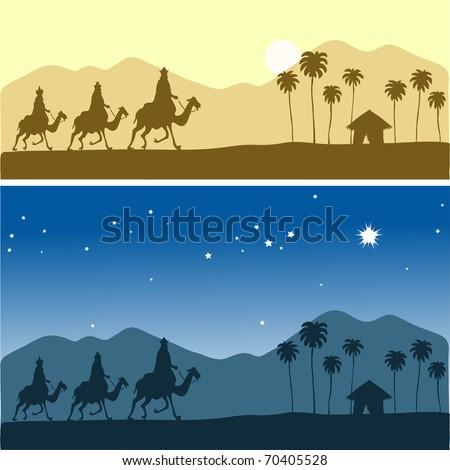 Three Kings - stock vector