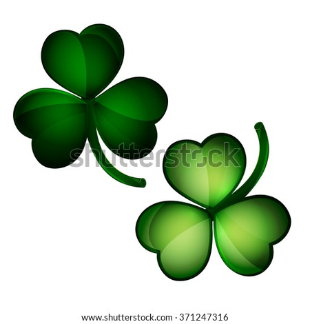 Three leaf clovers - stock vector