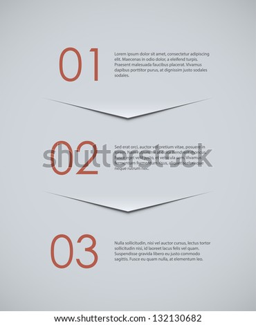 Three options background. EPS10 origami style vector. - stock vector