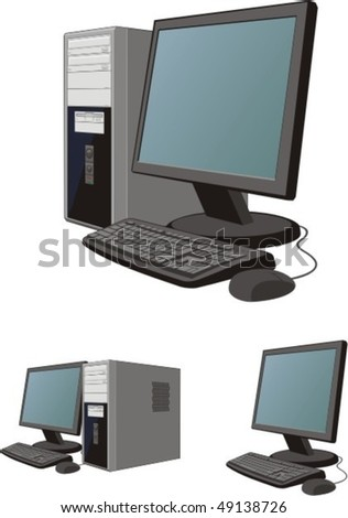 three scenes of the personal computer