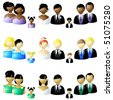 Three sets of wedding party icons (Eps10); JPG version also available - stock vector