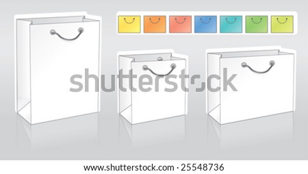 Three shopping packets in different shapes for your logo