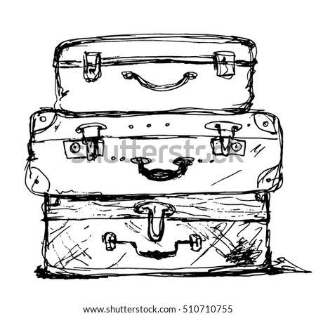 Three Travel Bag Vector Illustration Isolated On Background Summer Time