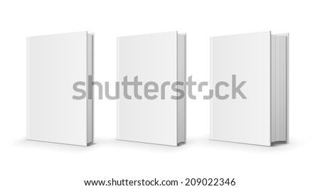 three vector books - stock vector
