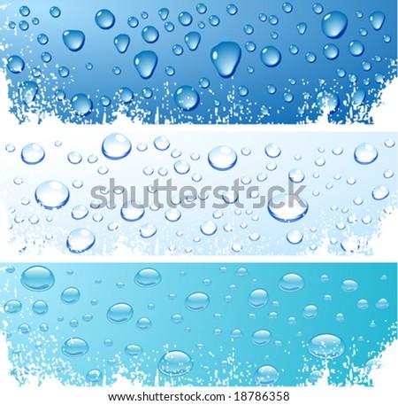 Three wet surfaces. Vector illustration. - stock vector