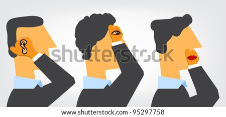 Three Wise Businessmen - stock vector